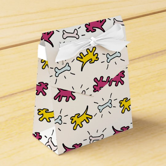 Dog Bone Graffiti Style Choose Colour Favour Box 2