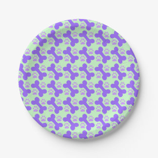 Dog Bone & Paw Paper Plates