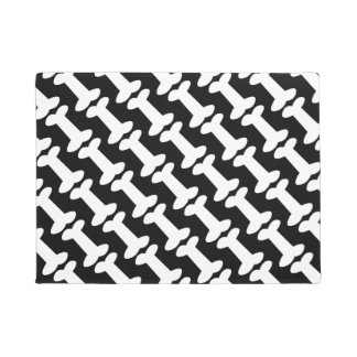 Dog Bones Pattern Black and White for Dog Lovers Doormat