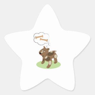 Dog Bones Star Stickers
