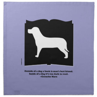 Dog Book Groucho Quote Printed Napkins