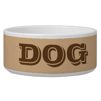 Dog Bowl by Janz Large in Tan