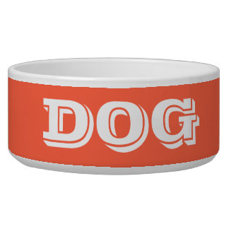 Dog Bowl by Janz Large Tomato Red