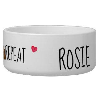 Dog Bowl - Eat Sleep Play Poop Repeat-Personalized