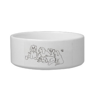 Dog bowl for a crazy dog person
