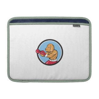 Dog Boxer Fighting Stance Circle Cartoon MacBook Air Sleeves