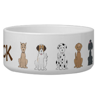 Dog Breed Pet Bowl Large
