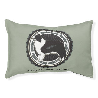 Dog Breeds Border Collie Personalized Name Pet Bed