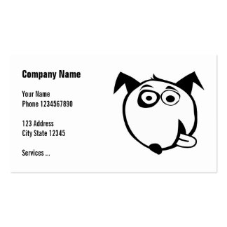 Dog business cards with cute illustration
