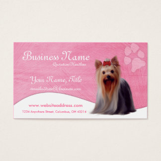 Dog Business Cards :: Yorkshire Yorkie