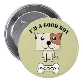 Dog Button12 7.5 Cm Round Badge