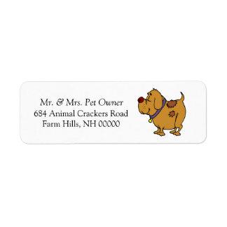 Dog Cartoon Return Address Mail Labels Stickers