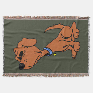 dog cartoon snooty throw blanket