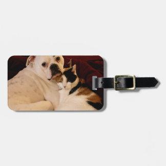 Dog Cat Cuddle Luggage Tag