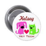 Dog Cat & Heart Vet Tech Pin