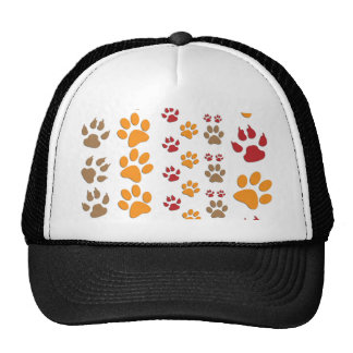 Dog & Cat Paw prints Design ~ editable background Cap
