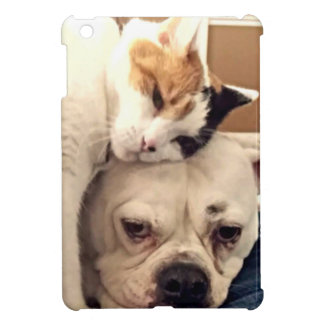 Dog Cat Snuggle iPad Mini Cases
