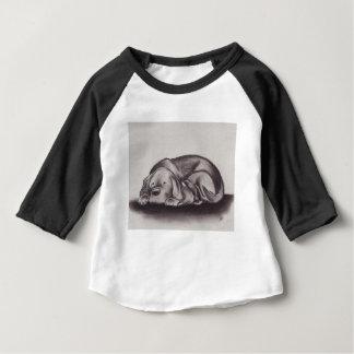 Dog & Cat Snuggle Sleeping Baby T-Shirt