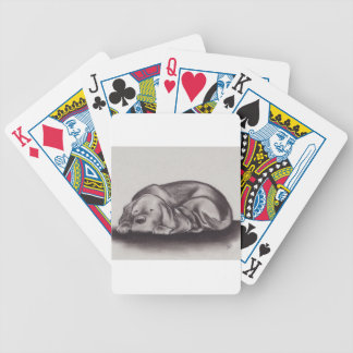 Dog & Cat Snuggle Sleeping Bicycle Playing Cards