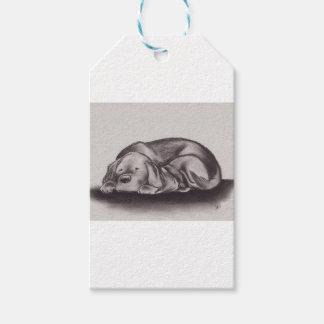 Dog & Cat Snuggle Sleeping Gift Tags