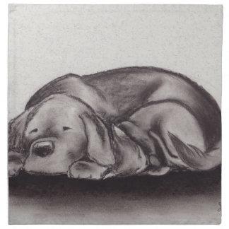 Dog & Cat Snuggle Sleeping Napkin