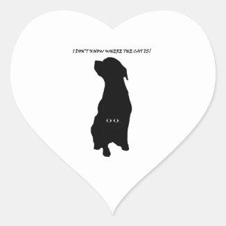 Dog cat thing heart sticker