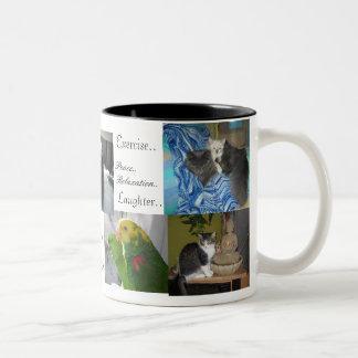 Dog,cats, birds,best friends coffee mugs