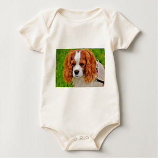 Dog Cavalier King Charles Spaniel Funny Pet Animal Baby Bodysuit