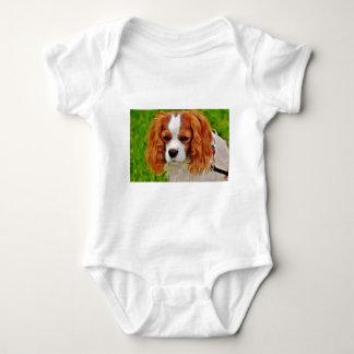 Dog Cavalier King Charles Spaniel Funny Pet Animal Baby Bodysuit