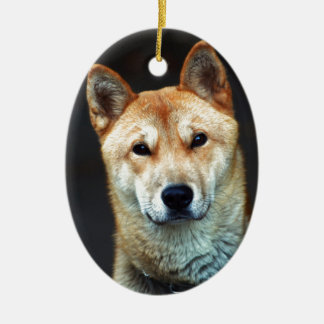 dog ceramic oval decoration