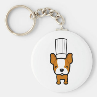 Dog Chef Art on Keychain