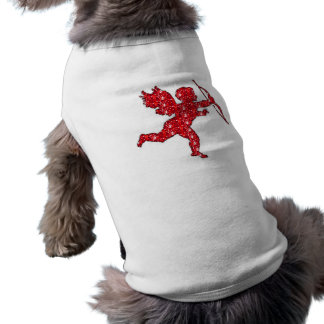 Dog Clothing Cupid Red Glitter