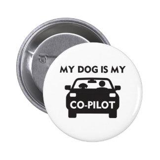 Dog Co-Pilot 6 Cm Round Badge