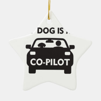 Dog Co-Pilot Ceramic Ornament