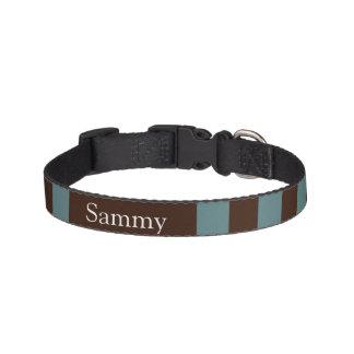 Dog collar blue-brown strip