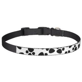 Dog Collar with Dog Paw Prints Dalmation Spots