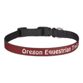 """Dog collar with """"Oregon Equestrian Trails"""""""