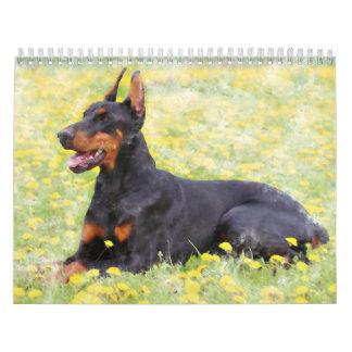 Dog Collection Oil Paintings Art Calendar