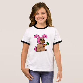 Dog costume rabbit ringer T-Shirt