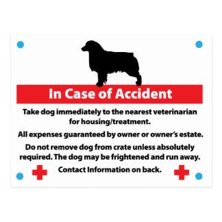 Dog Crate Card In Case of Emergency: Aussie