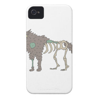 Dog Creepy Zombie With Rotting Flesh Outlined Hand Case-Mate iPhone 4 Case