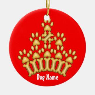 Dog Crown Round Ceramic Decoration
