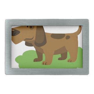 dog cute cartoon design rectangular belt buckles