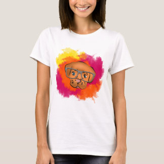 Dog cute oculos T-Shirt