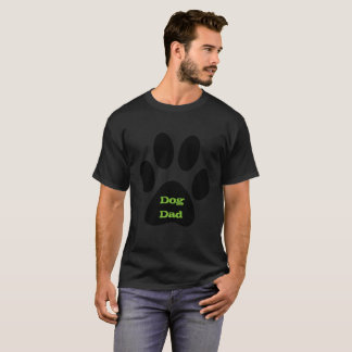 Dog Dad Black Paw Print T-Shirt, Menswear T-Shirt