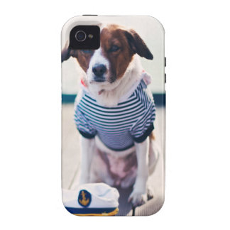 Dog Dailor Sitting Cap Clothes White  Nautical Vibe iPhone 4 Cases