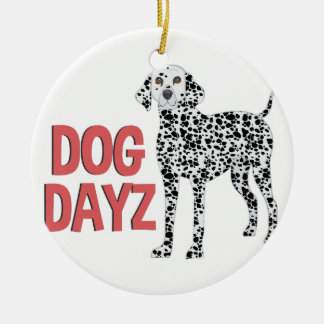 Dog Dayz Ceramic Ornament