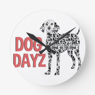 Dog Dayz Round Clock