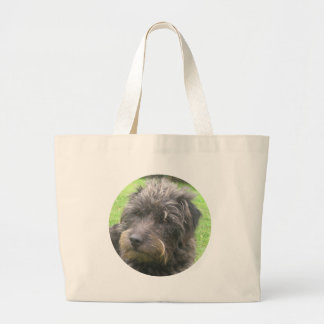 dog design large tote bag