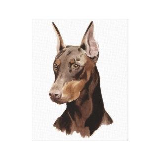 Dog Doberman! Beautifull portrait on canvas! Canvas Print